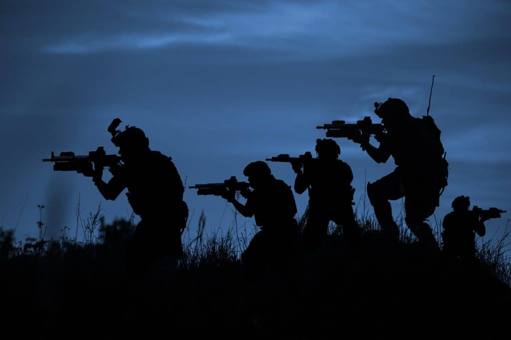 Marines at night